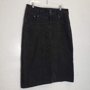 Style & Co Black Denim panel Skirt 10